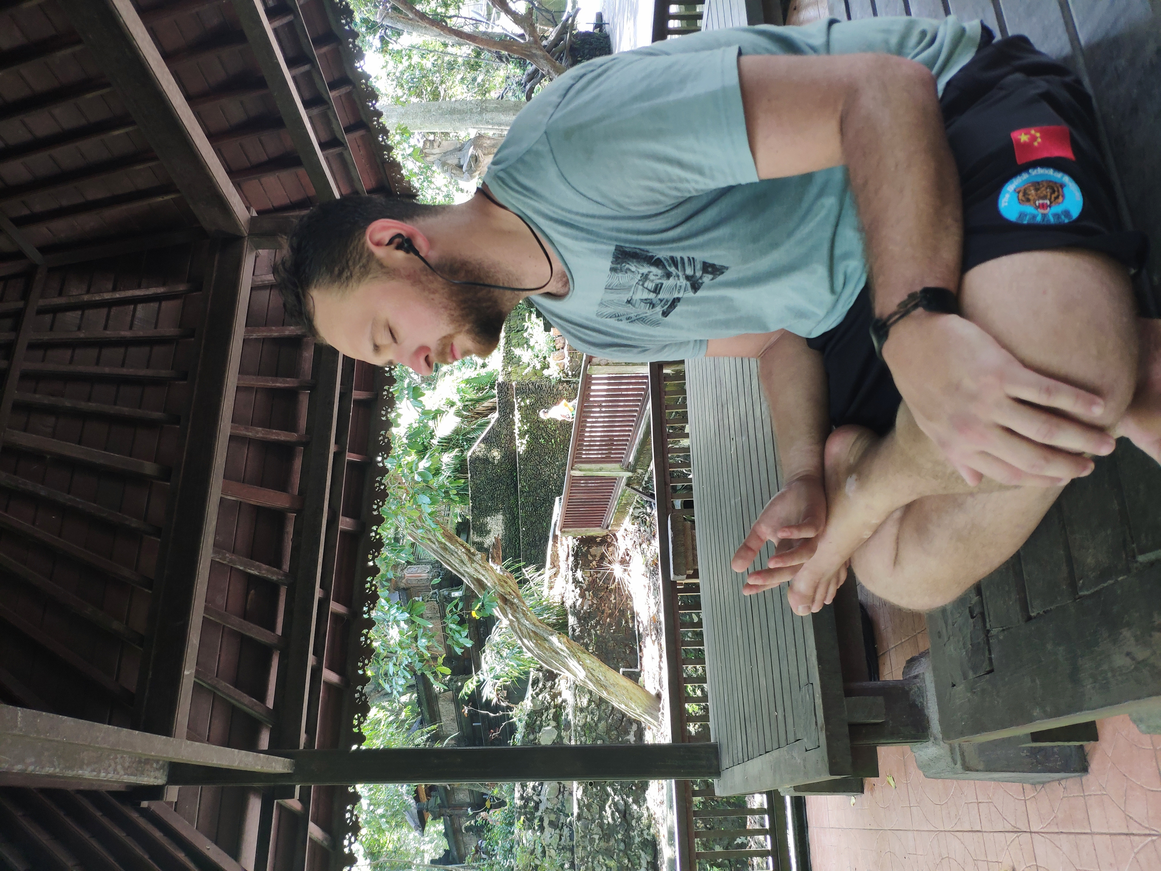 Meditating near the monkey forest in Ubud