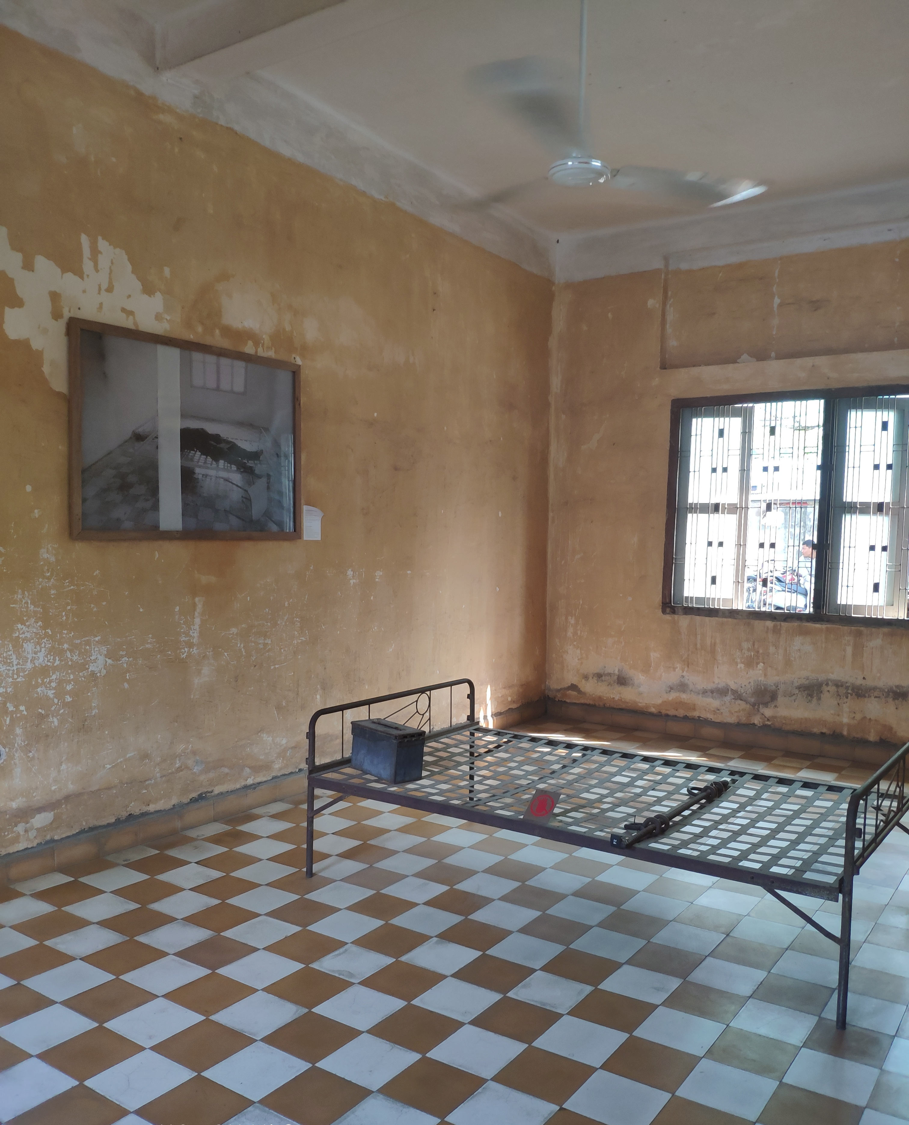 One of the cells at the Genocide Museum, formerly known as Prison S21